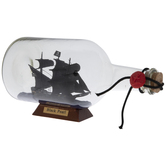 Black Pearl Ship In A Bottle
