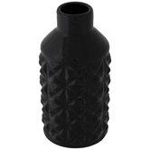 Black Geometric Mini Vase