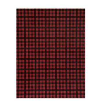 "Red & Black Gingham Scrapbook Paper - 8 1/2' x 11"""