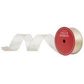 "Metallic Gold Wired Edge Mesh Ribbon - 2 1/2"""
