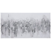 Silver Glitter Abstract Canvas Wall Decor