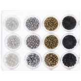 White, Gray & Black Seed Beads