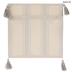 Gray Striped Tassel Pillow Cover
