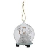 Praying Angel Light Up Globe Ornament
