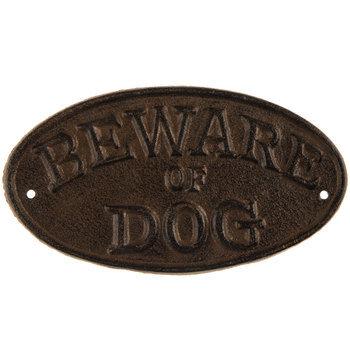 Beware Of Dog Metal Plaque