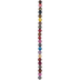 Multi-Color Dyed Faceted Round Agate Bead Strand - 8mm