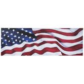 Waving American Flag Canvas Wall Decor