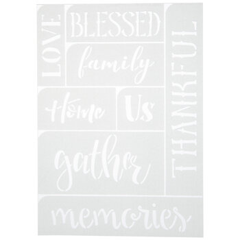 Home & Family Adhesive Stencils