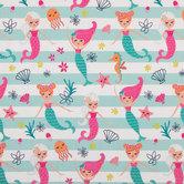 Mermaid Striped Knit Fabric