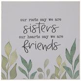 Sisters Friends Wood Decor