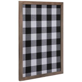 Black & White Buffalo Check Wood Memo Board
