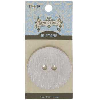 Silver Wood Grain Round Button 44mm Hobby Lobby 80788016