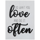 Do What You Love Wood Decor