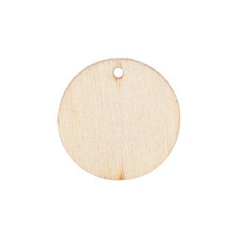 Round Wood Cut Pendants