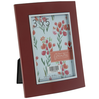 "Burgundy Frame With Metal Facing - 3 1/2"" x 5"""