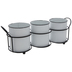 White Enamel Containers With Caddy