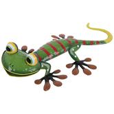 Green Gecko Metal Decor