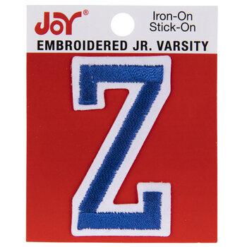"Blue Junior Varsity Letter Iron-On Applique Z - 2"""