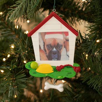Dog House Frame Personalized Ornament