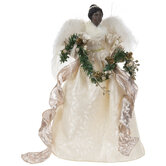 Angel With Garland Tree Topper