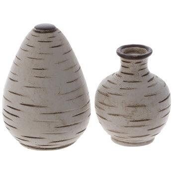 Miniature White Vases
