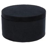 Black Velvet Round Jewelry Box