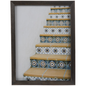 Mosaic Stairs Framed Wall Decor