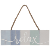 Relax Striped Wood Wall Decor