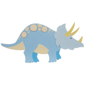 Triceratops Painted Wood Shape
