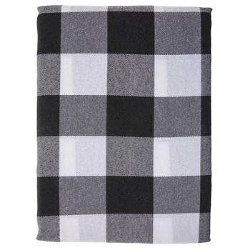 Black & White Buffalo Check Table Cloth