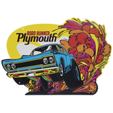 Road Runner Plymouth Metal Sign