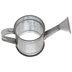 Silver Watering Can Galvanized Metal Napkin Ring
