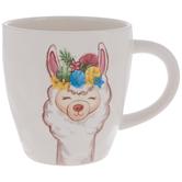 Llama With Yarn Ball Crown Mug