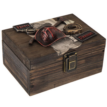Firefighter Wood Box