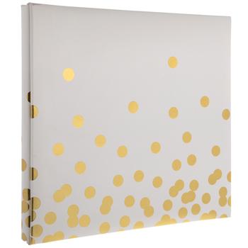 """Gold Foil Confetti Post Bound Album - 12"""" x 12"""""""