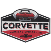 Corvette America's Sports Car Metal Sign