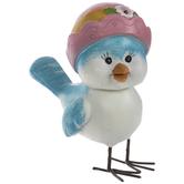Blue Bird In Pink Hat