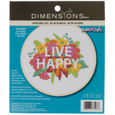 Live Happy Embroidery Kit