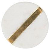 White Stone Round Knob