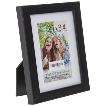 "Black Instax Polaroid Photo Frame - 2 1/8"" x 3 3/8"""