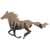 Forest Horse Silhouette Wood Wall Decor