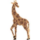 Giraffe Rhinestone Brooch