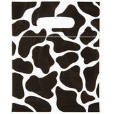 Cow Print Zipper Bags With Handles