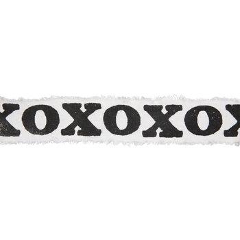 """XOXO Cotton Frayed Edge Ribbon - 1 7/8"""""""