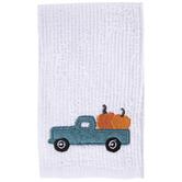 White Truck & Pumpkins Scrubsy