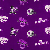 Kansas State Allover Collegiate Fleece Fabric