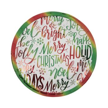 Foil Festive Sayings Paper Plates