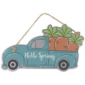 Hello Spring Carrot Truck Ornament
