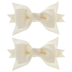 Ivory Baby Grosgrain Bow Clips