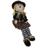 Leopard Print Scarecrow Shelf Sitter
